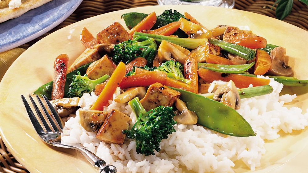 Tofu Vegetable Grill-Fry for Two