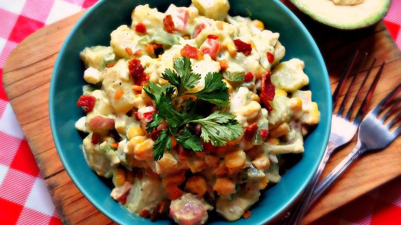 Tex-Mex Potato Salad with Avocado