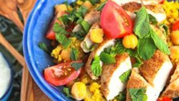 Easy Chicken and Couscous Skillet