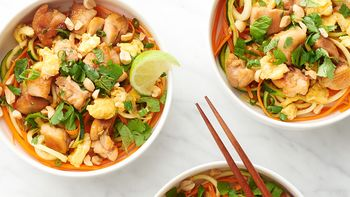 Chicken Pad Thai Zoodle Bowls