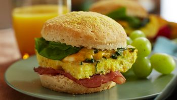 Greens, Eggs and Ham Biscuits