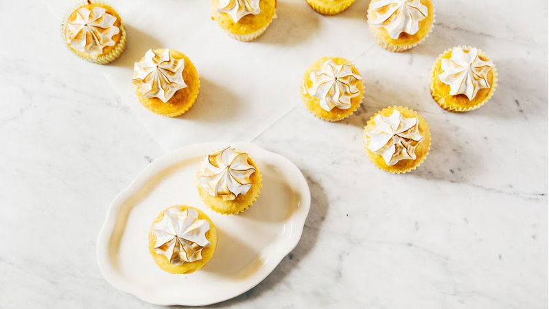 Lemon Meringue Poke Cupcakes