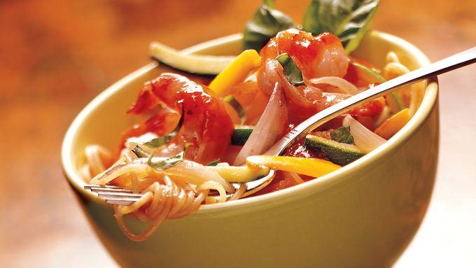 Marinara Shrimp and Vegetable Bowls