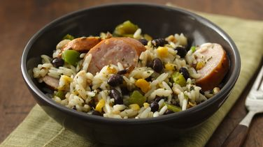 Sausage, Rice and Beans