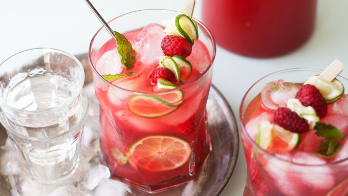 Raspberry-Mint Limeade