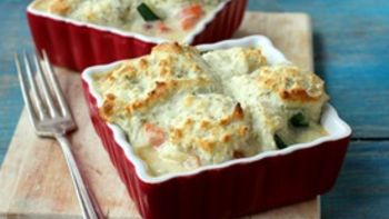 Chicken Veggie Pot Pies for Two