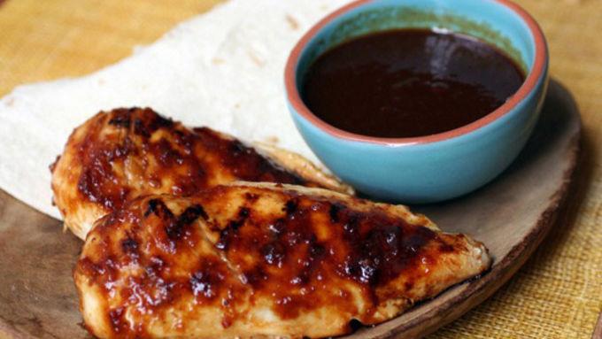 Grilled Chicken with Orange-Chipotle Glaze