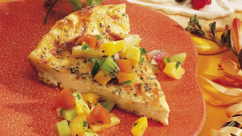 Baked Herb Omelet with Fruit Salsa
