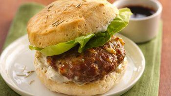 Savory Turkey Burgers with Pomegranate Molasses
