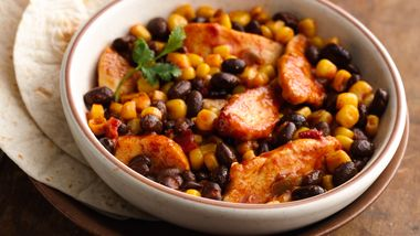 Easy Mexican Chicken and Beans