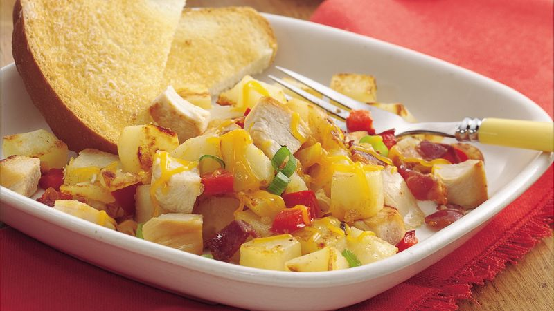 Calico Chicken and Potatoes Skillet