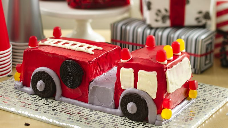 Easy Fire Engine Cake Recipe
