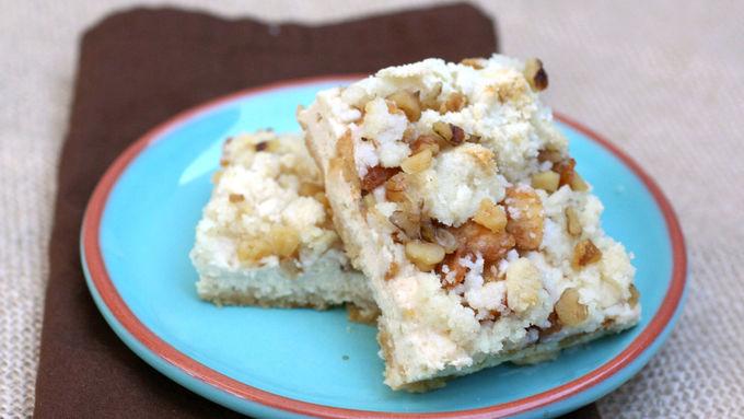Gluten-Free Apple Streusel Cheesecake Bars