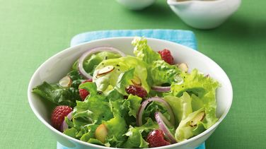 Honey-Lime Berries and Greens