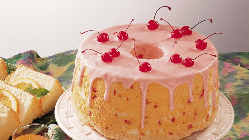 Low-Fat Cherry-Almond Angel Cake