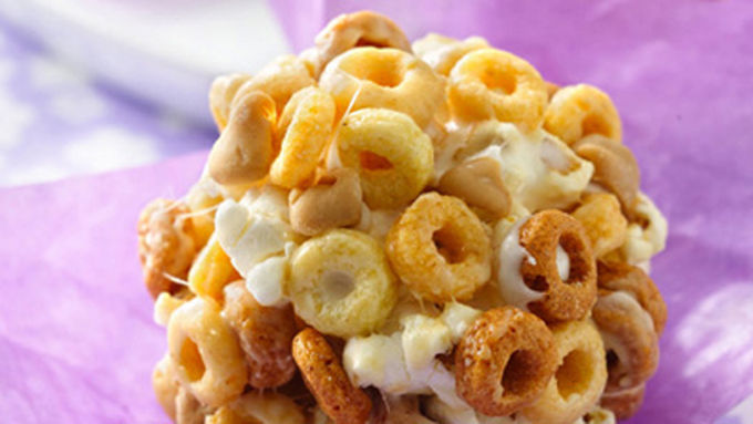 Peanut Butter-Cheerios™ Popcorn Balls