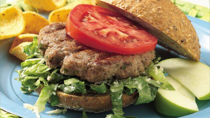 Grilled Caesar Turkey Burgers