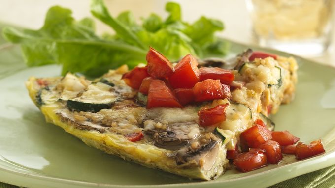 Italian Frittata with Vinaigrette Tomatoes