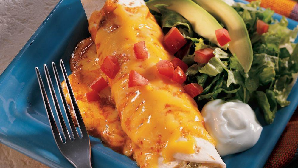 Chile Chicken Enchiladas