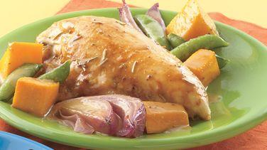 Honey-Mustard Roasted Chicken and Squash