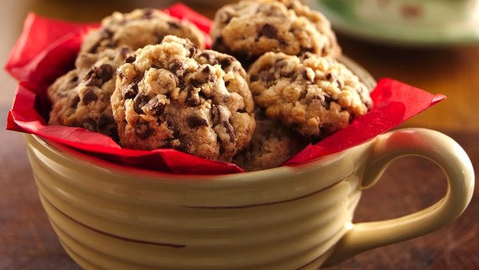 Chocolate Chip-Oatmeal Shortbread Cookies