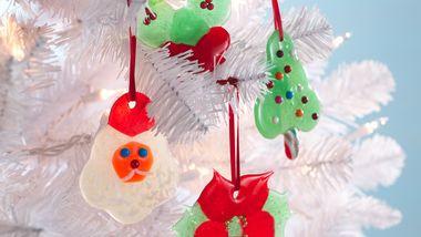 Poinsettia Candy Ornaments