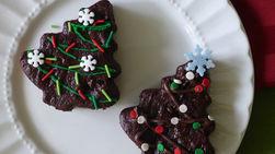 Árboles Navideños de Brownies