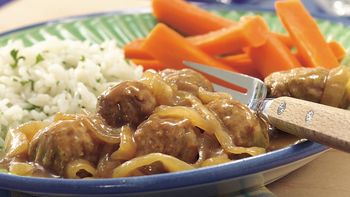 Salisbury-Style Meatballs with Caramelized Onions