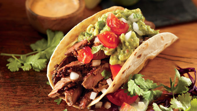 Beef Carne Asada Soft Tacos