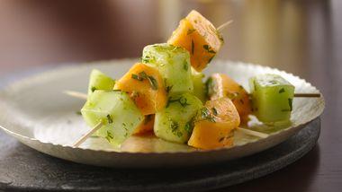 Gluten-Free Mojito Melon Kabobs
