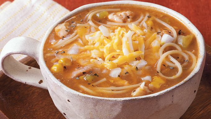 Enchilada Pasta Soup