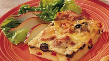 Mozzarella and Pesto Strata