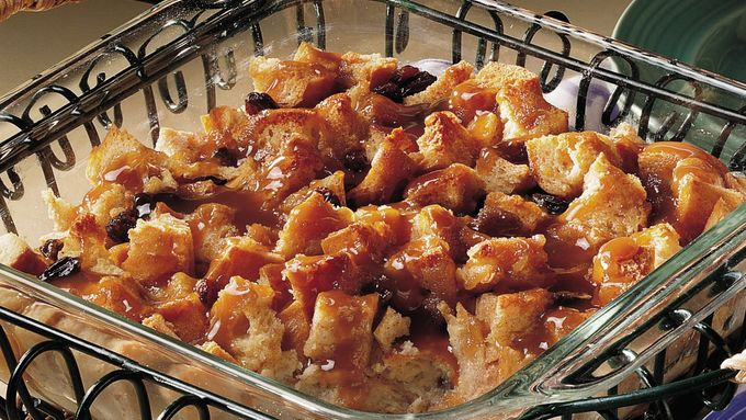 Bread Pudding with Bourbon Sauce (lighter recipe)