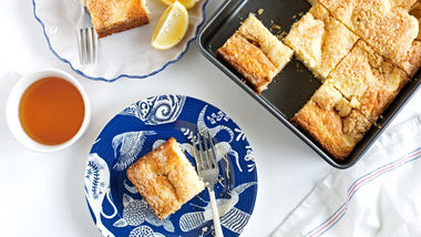 Lemon-Cream Cheese Coffee Cake