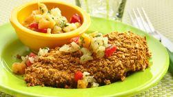 Pollo caribeño y salsa de piña