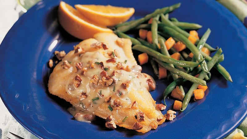 Grilled Walleye with Pecan Butter