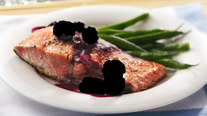 Grilled Blackberry-Glazed Salmon