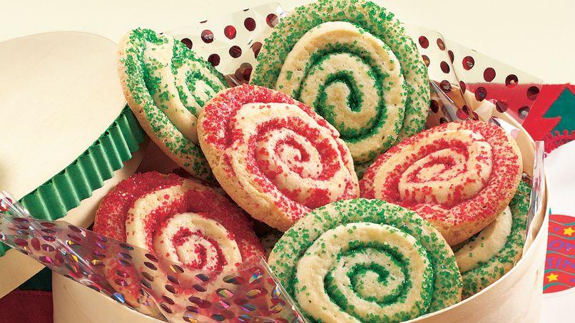Galletas Rojas y Verdes en Espiral