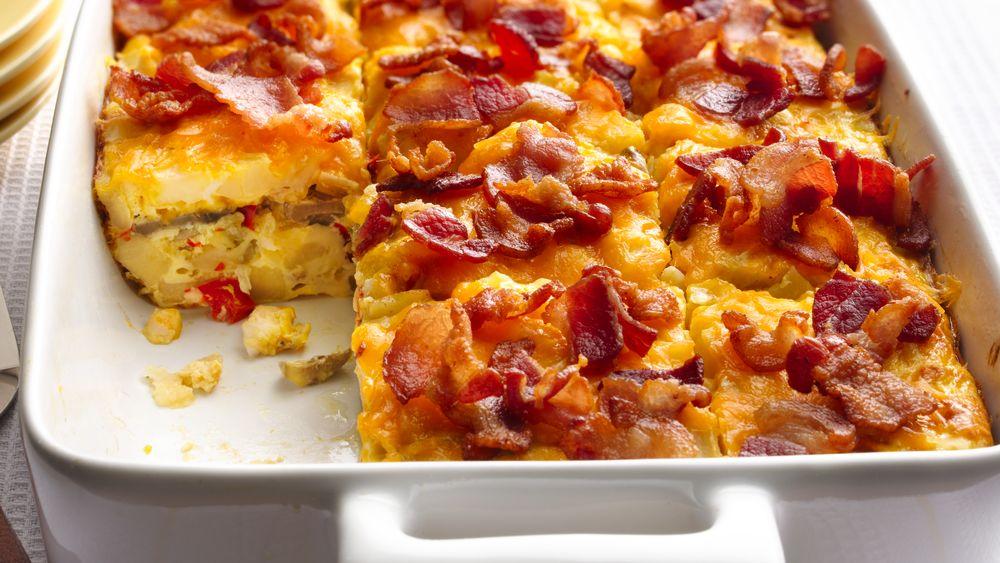 Bacon and Mushroom Hash Brown Breakfast