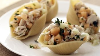 Skinny Chicken and Double-Melon Stuffed Shells