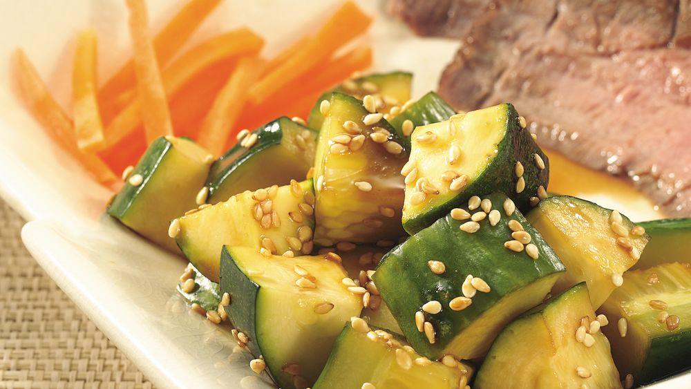 Asian Cucumber-Zucchini Salad
