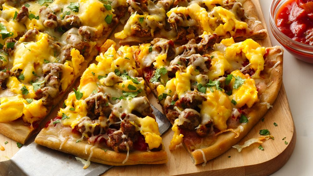 Gluten-Free Mexican Breakfast Pizza