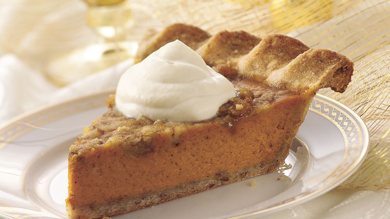 Pecan-Crusted Pumpkin Pie