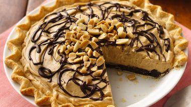 Chocolate-Peanut Butter Truffle Pie