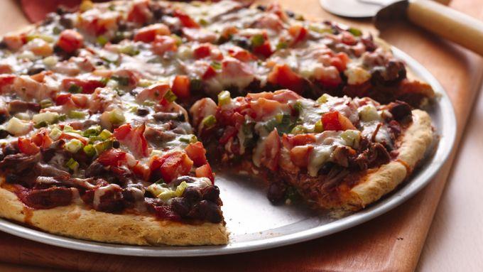 Spicy Beef Pizza Pie