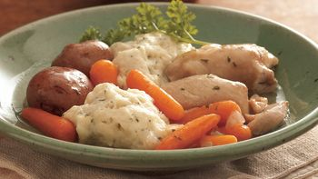 Slow-Cooker Chicken and Vegetables with Dumplings