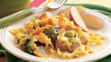 Doubly Cheesy Ham Divan Bake