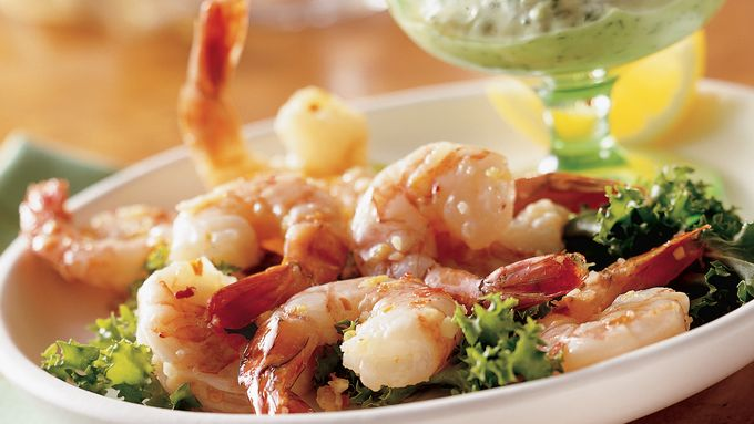 Spicy Lemon Shrimp with Basil Mayonnaise recipe - from ...