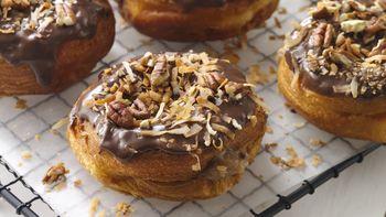 German Chocolate Doughnuts