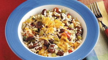 Cheese-Topped Veggie Supper